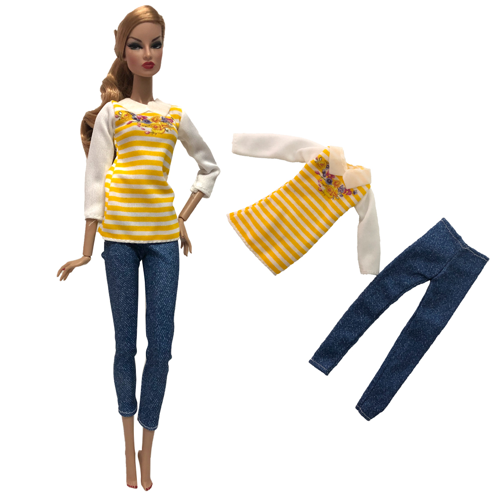 NK One Pcs 2020 Doll Dress Handmade Clothes Fashion Casual Skirt For Barbie Doll Accessories Child Toys Girls' Gift 278K 1X