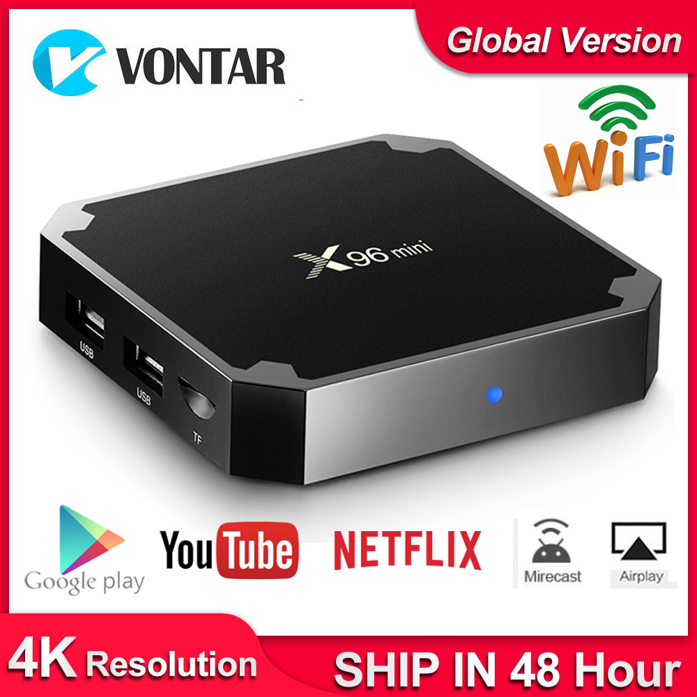X96 Mini X96mini Smart TV BOX Android 7.1 2GB/16GB TVBOX X 96 Mini Amlogic S905W H.265 4K 2.4GHz WiFi Media Player Set Top Box
