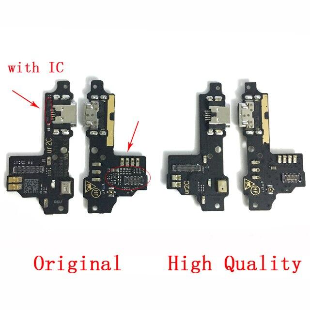 Orijinal ZTE Blade V8 USB şarj portu dock konektör esnek kablo USB Jack şarj yuva konnektörü parçaları