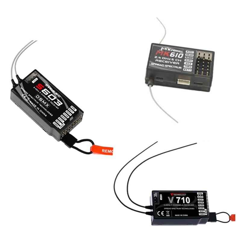 V710/S603/MKronRC MK610 2,4G 6CH/7CH receptor JR Spektrum G152 DX6 DX6I DX7 DSX7 transmisor controlador remoto piezas de control remoto