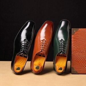 Image 5 - 2020 Men Shoes Business Suit Men Formal Dress Shoes Loafers Party Wedding Oxfords Big Size