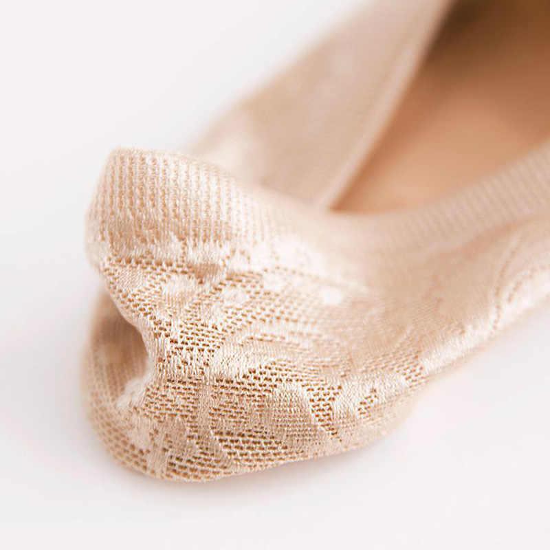 1/2 Đôi Nữ Thời Trang Bé Gái Mùa Hè Tất Ren Phong Cách Hoa Ngắn Tất Chống Trượt Vô Hình Mắt Cá Chân 2019 SOX Sock Dép