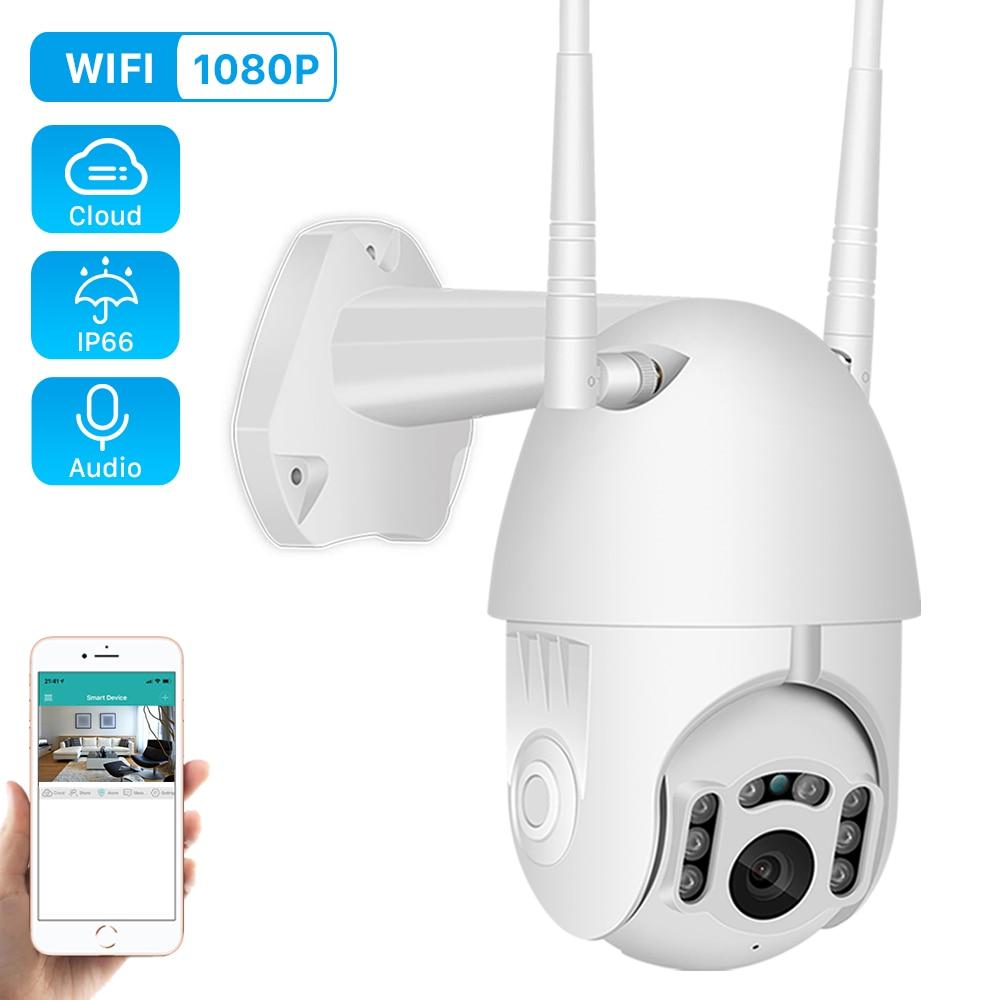 1080P PTZ Speed Dome Camera Outdoor Wifi Camera Two Way Audio IR Vision Network CCTV Home Surveillance 2MP H.265 Onvif IP Camera