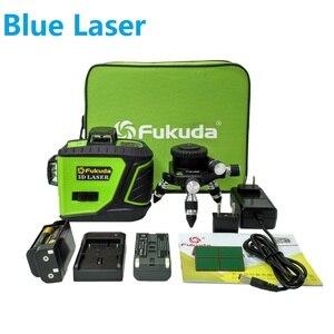 Image 1 - Fukuda Quay Laser 360 12 Đường 3D Xanh Tia Cấp Laser Tự Cân Bằng Độ Cao Ngang Dọc Chéo Laser Thẳng MW 93T Mới