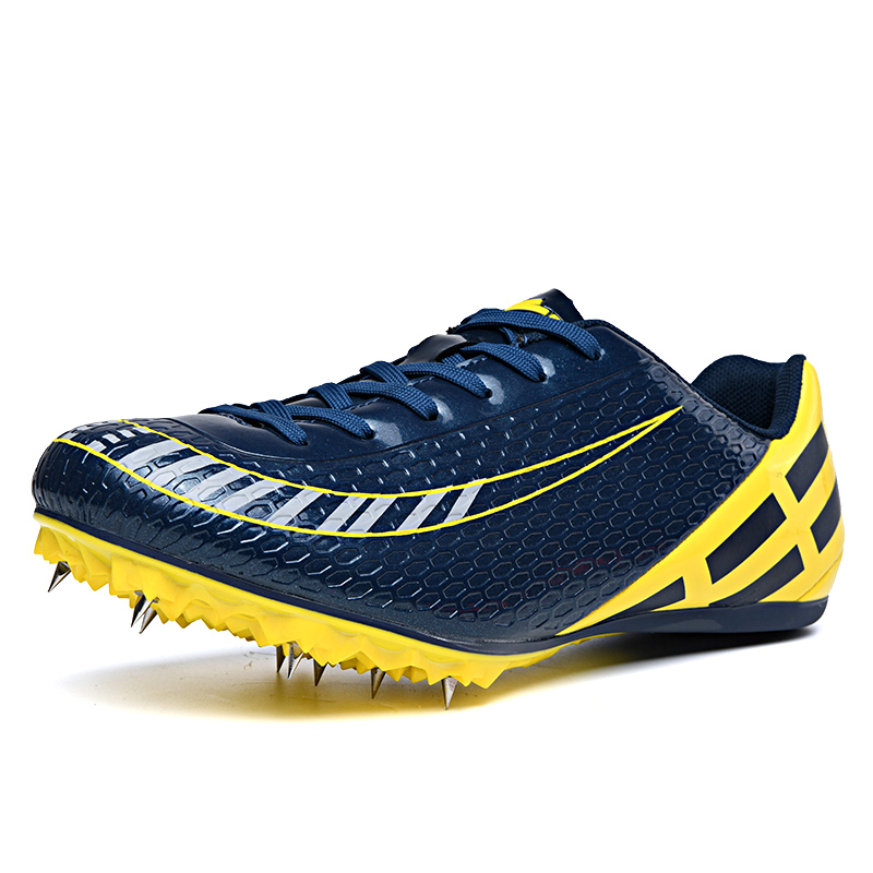Unisex Track Shoes Male Female Spikes Sneakers for Running Non-Slip Athletics Spikes  for Running Orange Blue Nails Shoes