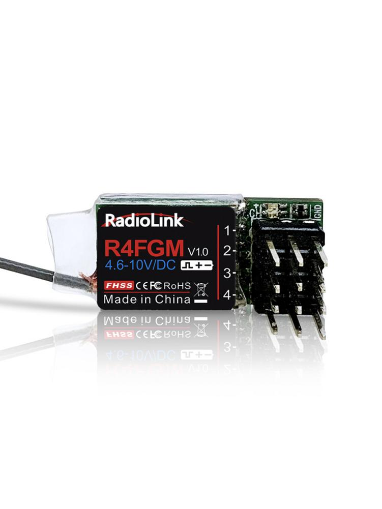 Radiolink R4FGM 4CH Receiver Integrated Gyro for RC MINI-Z Cars & Boats Suitable for RC4GS/RC6GS/RC4G/T8FB/T8S image