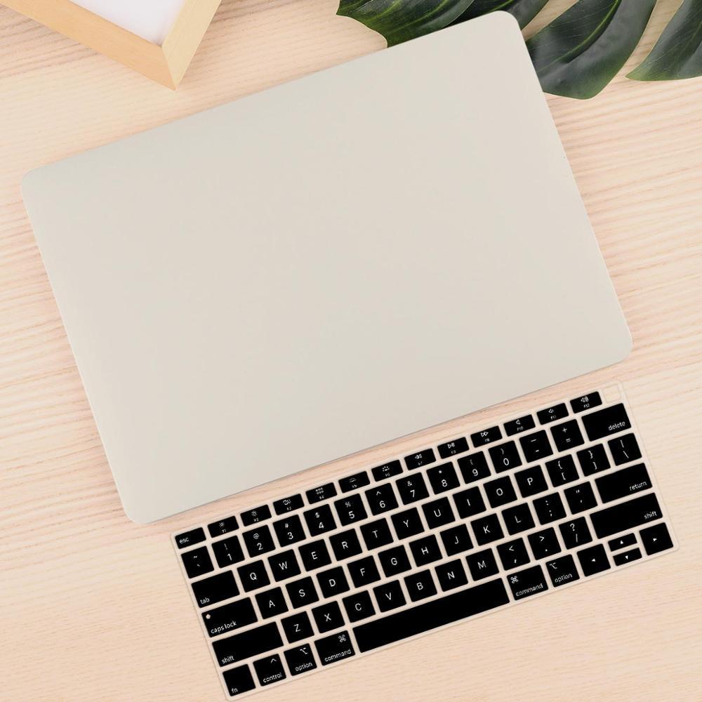 Чехол для ноутбука 4 в 1 для MacBook Air 11, 13 дюймов и Pro retina 13,3, 15,,,, кристально Матовый Жесткий чехол для клавиатуры - Цвет: Stone