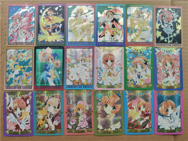 18pcs/set Magical Girl Card Captor SAKU Toys Hobbies Hobby Collectibles Game Collection Anime Cards