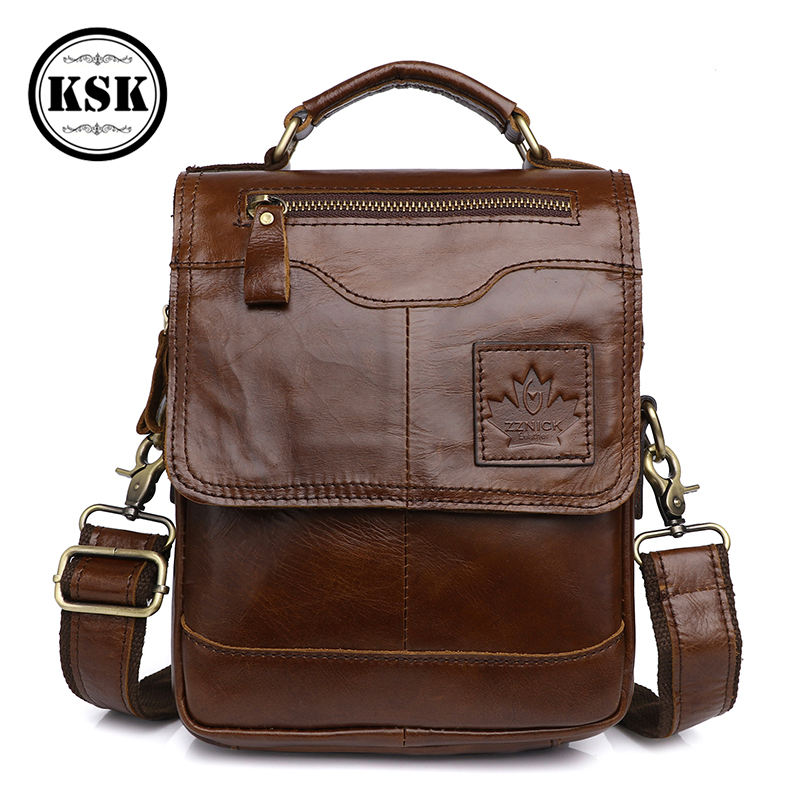 Men's Genuine Leather Bag Messenger Bag Shoulder Bags For Men Luxury Handbag 2019 Fashion Flap Male Shoulder Crossbody Bags KSK