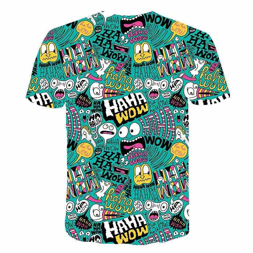 Sommer 2019 männer T-Shirt Spaß Lustige Casual Mode 3D gedruckt Shorts Ärmeln T-Shirt Mode Casual Tops T-Shirt