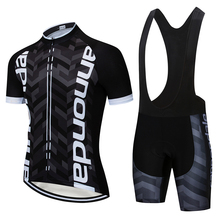 2019 Cycling Clothing Jersey Quick Dry Mens Bicycle Clothes Summer Step Team Jerseys Gel Bike Shorts Set