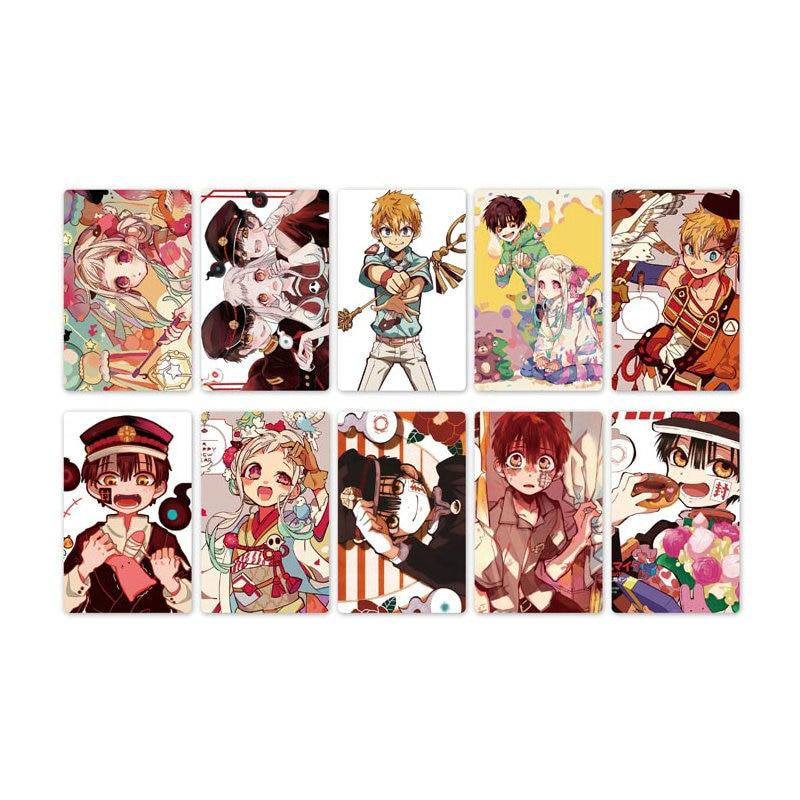 10pcs Toilet-Bound Hanako-kun Anime Card Stickers DIY Bus ID Waterproof Scrub Card Sticker Kids Sticker Toys