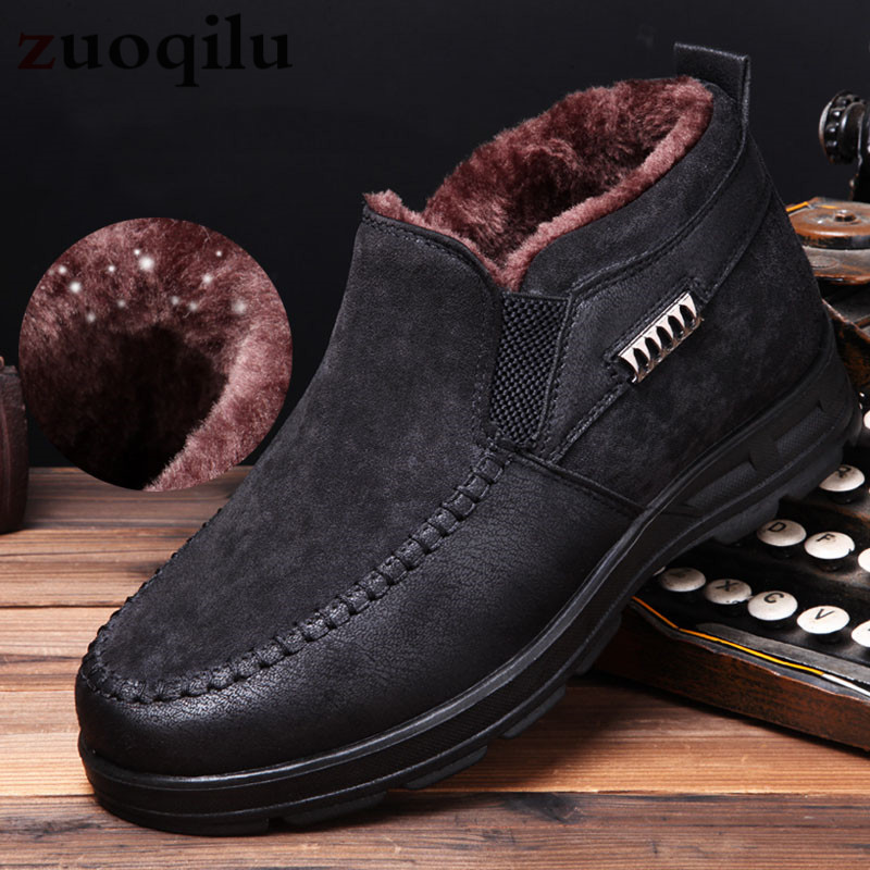 2019 Winter Boots For Men Winter Shoes Warm Plush Fur Snow Boots Male Ankle Boots Men's Winter Boots Bota Masculina Botas Hombre