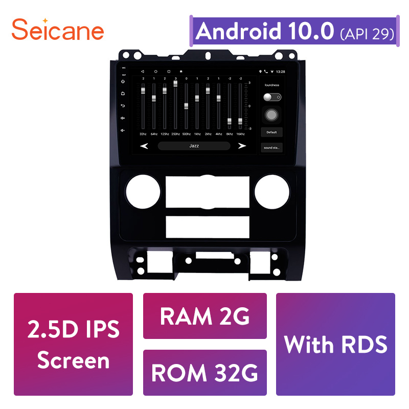 Seicane IPS RDS 2GB RAM Android 10.0 Car Radio Head Unit for <font><b>Ford</b></font> <font><b>Escape</b></font> 2007 2010 2011 2012 <font><b>GPS</b></font> Navigayion Multimedia Player image