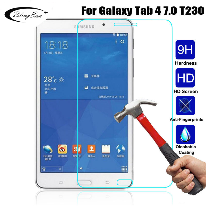 9H Tempered Glass For Samsung Galaxy Tab 4 7.0 SM T230 SM T231 SM T235 HD Screen Protector Film for Samsung T230 7.0 inch Tablet Tablet Screen Protectors    - AliExpress