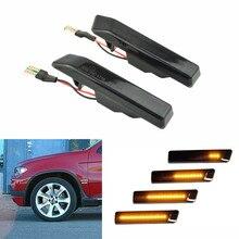 цена на For BMW X5 E53 1999-2006 E36 M3 Facelift 1997-1999 Flowing Turn Signal Lights Dynamic LED Side Marker Indicator Blinker