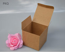 Brown Kraft Paper Jewelry box 5*5*5cm White Craft Packing box DIY Paper gift box 500pcs/lot(China)