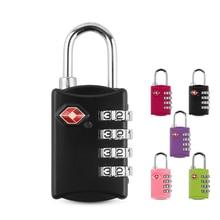 Combination Lock Padlock Customs Suitcase Code Lock 4 Digit TSA Combination Lock Suitcases for Travel Luggage Bags Padlock 3 digit combination number lock travel luggage suitcase handbag padlock security code lock random color one piece