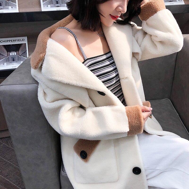 Real Fur Coat Wool Jacket Autumn Winter Coat Women Clothes 2020 Korean Vintage Streetwear Tops Sheep Shearling Abrigo Mujer 3285