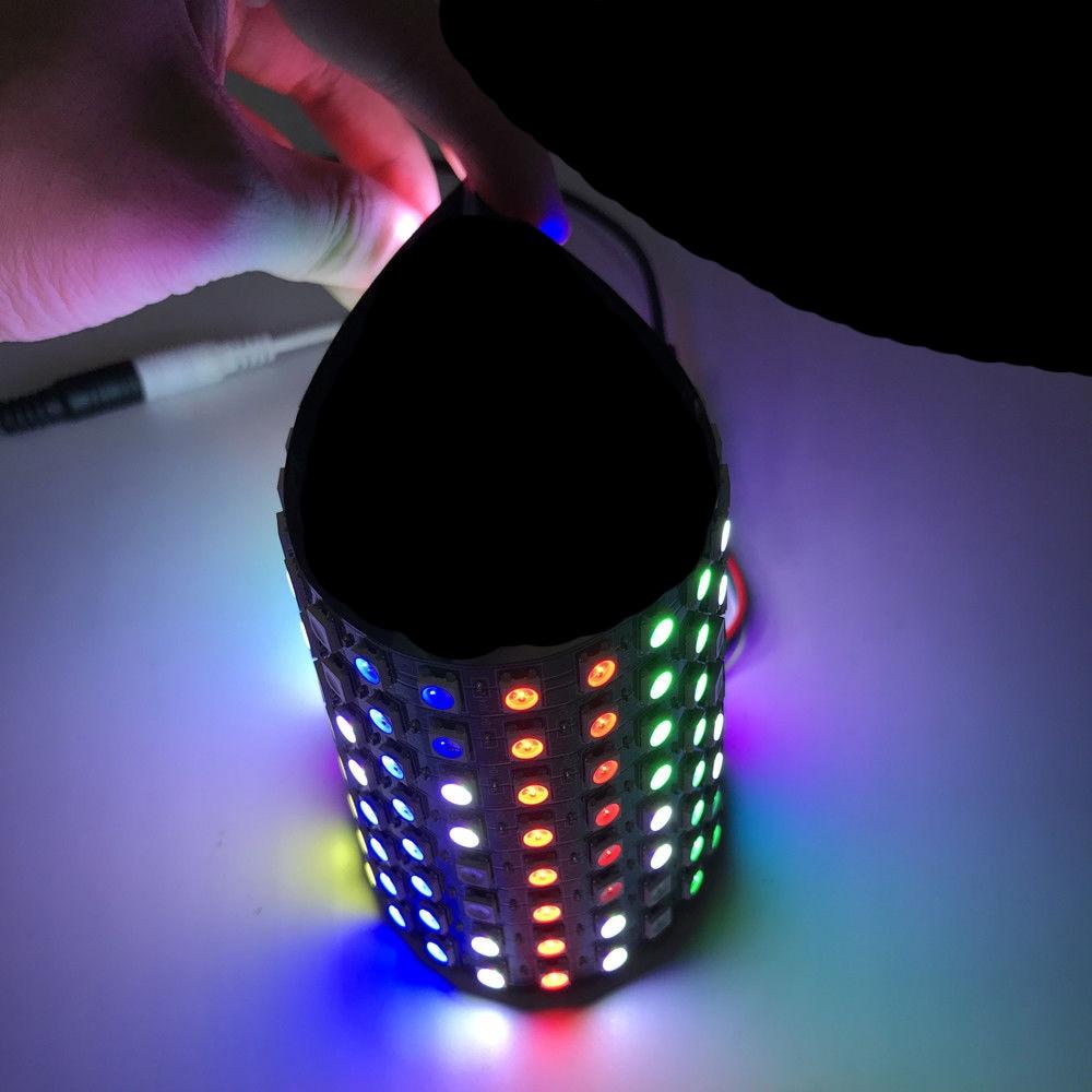 Led Pixel Strip Lights WS2812 Module Panel Screen Lamp Flexible DIY Display Board DC 5V Chip Digital Individual Addressable