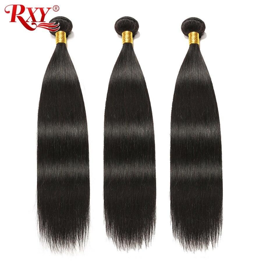 RXY Hint Saç Demeti Çift Atkı Uzun Düz Saç Demetleri 100% Remy Insan Saç Uzatma 10