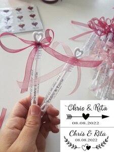 100 pcs / pack ofpersonalized wedding bubble labels,transparent bubble stick labels,magicwand bubble labels excluding test tubes
