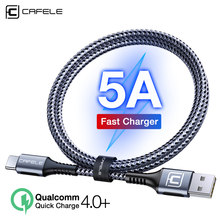 CAFELE 5A USB C Charging cable QC4.0+ Type C Cable for huawei xiaomi samsung OPPO VIVO 30W Fast Charger data sync Cable