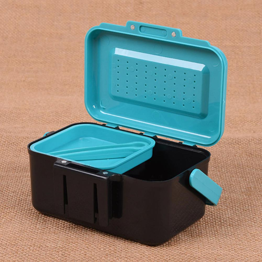MeterMall Fishing Box Fishing Bait Case Earthworm Worm Lure Tackle Storage Box ABS Portable Live Bait Storage Box in Fishing Bags from Sports Entertainment