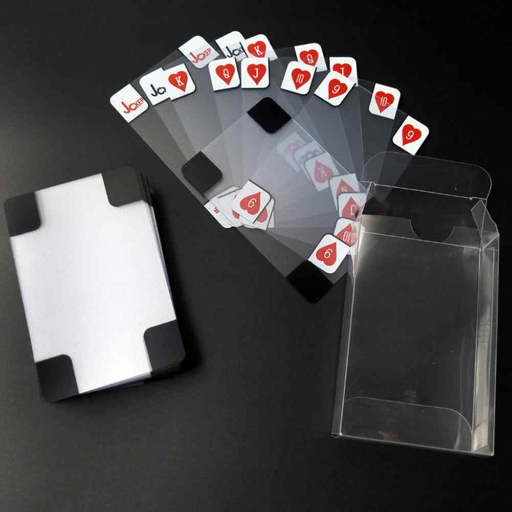 Transparante Speelkaarten Poker Game Dek Transparante Folie Poker Set Plastic Magic Card Waterdicht Kaarten Magic Drop Schip