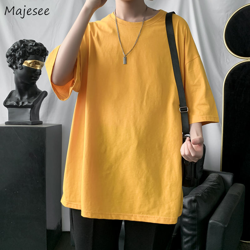 T-<font><b>shirts</b></font> <font><b>Men</b></font> Half Sleeve Solid Simple Plus Size 4XL <font><b>Oversize</b></font> Chic Leisure High Quality Basic Tees <font><b>Korean</b></font> <font><b>Style</b></font> All-match Ulzzang image