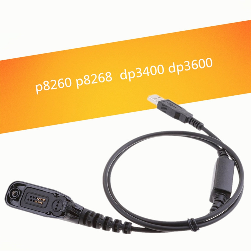 USB Programming Cable Cord Lead For Motorola Radio XPR XIR DP DGP APX Series Walkie Talkie L Type Plug