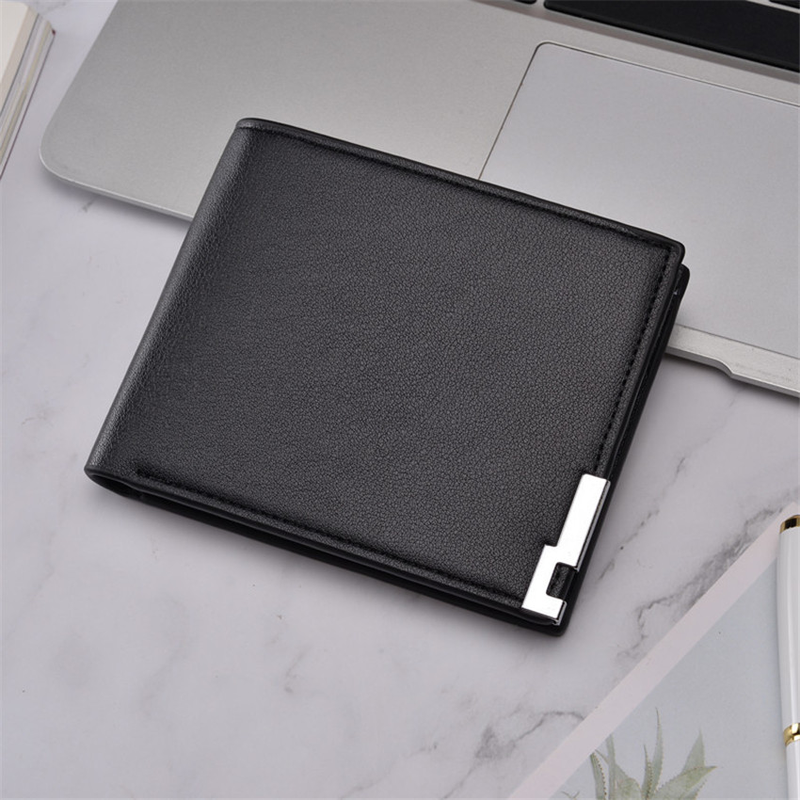 2019 Ultra-thin Short Sequined Men Wallets With Coin Bag Black Purse Men Wallet Male Small Money Dollar Slim Card Case Carteira