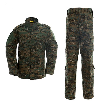 Woodland Digital Military Jacket Tactical Clothing Warrior Combat Proven Airsoft Uniform Camouflage Suit S-XL Man Costumes ACU german army woodland camo suit acu bdu military camouflage suit sets cs combat tactical paintball uniform jacket