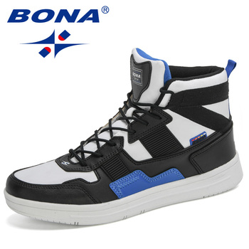 BONA 2020 New Designers High Top Sneakers Men Casual Skateboarding Shoes Man Sports Walking Street Masculino - discount item  34% OFF Sneakers