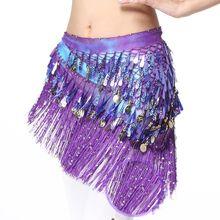 Танец живота костюм хип шарф монета и ремень с блестками Талия