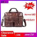 Мужская сумка-портфель MVA  из натуральной кожи  7804