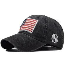 Boné de beisebol dos homens do exército tático algodão militar pai chapéu eua bandeira americana unissex hip hop chapéu esporte bonés chapéus