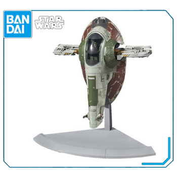 Original Bandai Star Wars 1/144 SLAVE I spacecraft Babo Fett Assembly Action Figure Brinquedos Model Dolls
