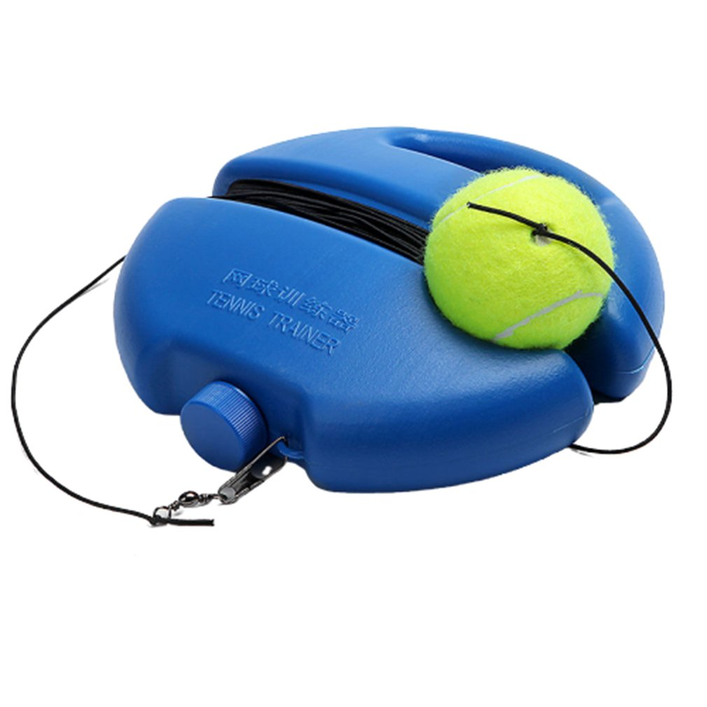 Heavy Duty Single Tennis Trainer Self-Study Tennis String Training Tool Exercise Tennis Ball Training Baseboard Sparring Device