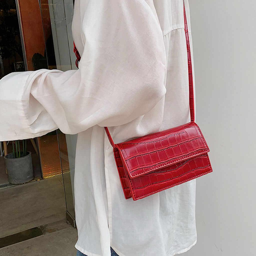 Küçük kare kadınlar için Crossbody çanta Retro serpantin askılı çanta bayanlar omuzdan askili çanta kadın çanta Bolsa Feminina # H15