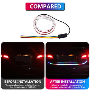 LED Flowing DRL Trunk Box Turn Signal Rear Light Strip Car Braking Light Day Running Light For BMW M E36 E39 E90 F10 Nissan Juke image