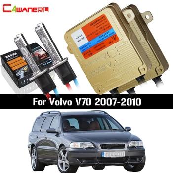 Cawanerl 55W Car Canbus Ballast Bulb HID Xenon Kit AC 12V 3000K-8000K Vehicle Headlight Low Beam For Volvo V70 2007-2010