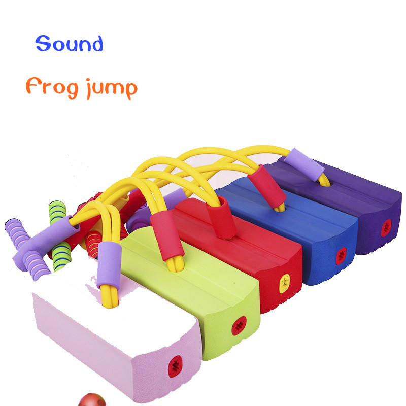 1Pcs Outdoor Toy Sports Foam Pogo Jumper Bounce Shoe Jumping Frog Game Dexterity Balancing Training Interactive Toy For Children