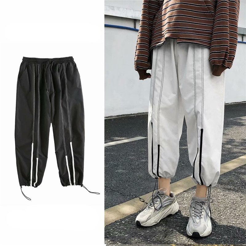 Summer Loose Casual Ankle-Length Pants Thin Men`s Women Jogger Pants Fashion Teens Boys Girls Joggers Sports Striped Trousers (3)