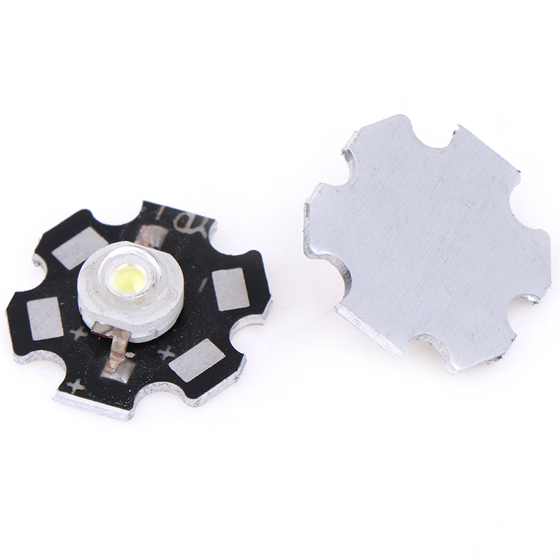 5Pcs 1/3W LED Heat Sink Aluminum Base Plate PCB Board Substrate LED Parts 20mm Dropshipping
