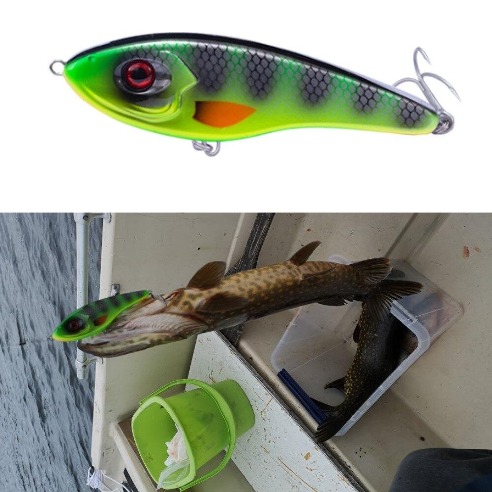 Hunthouse Jerkbait Musky Buster Pike Fishing Lure Jerk VIB Baits Vmc Hooks Slow Sinking Big Bass Pesca Leurre Jerkbaits