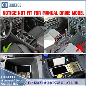 Image 2 - Armrest Storage Box For Kia Sportage KX5 QL AT LHD 2016   2020 Center Console Organzier Stowing Tidying Storage Holder Tray