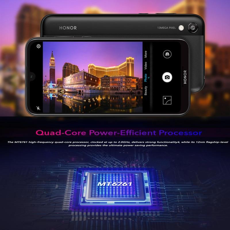 Huawei Brand Original Honor 8S Global Version Smartphone Quad Core 3G+64G FullView Dewdrop Display Micro-SD Slot Mobile Phone