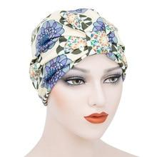 Мусульманский головной убор, чалму капор для женщины хлопок печать внутренний хиджаб крышки арабских обернуть хиджаб женщин мусульман исламский платок шляпа