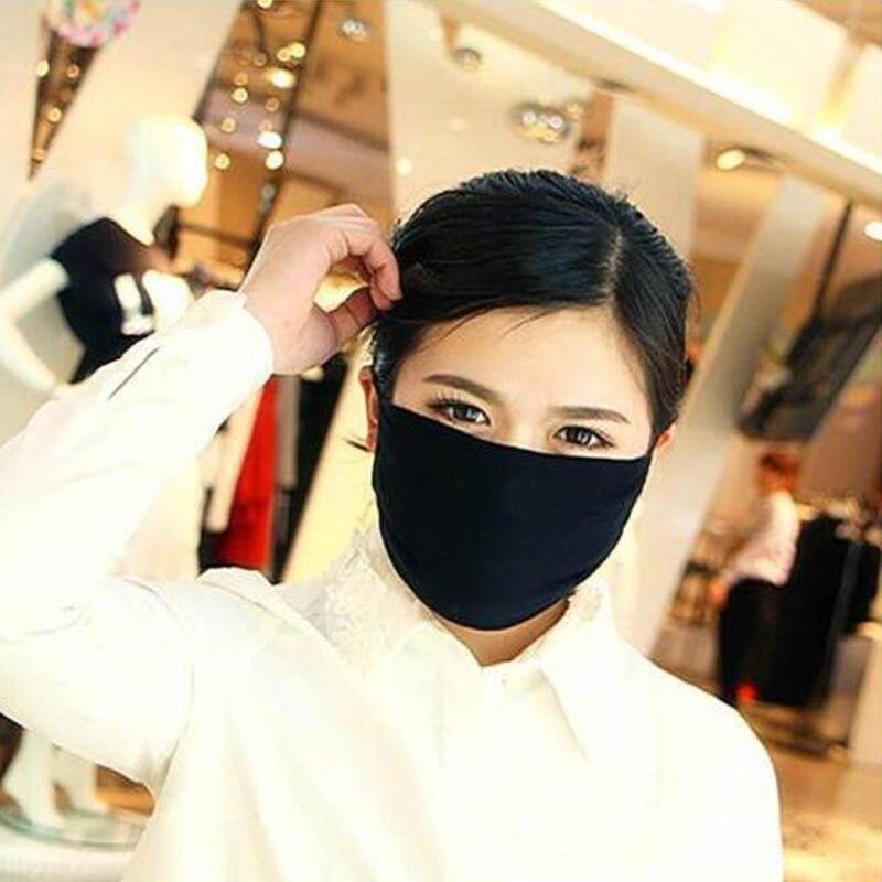 Image 3 - 2Pcs Korean Fashion Men Black Muffle Mouth Mask Anti Dust Unisex  Women Mouth Face Mask Virus for Motorcycle Outdoor